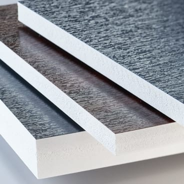 KÖMMERLING KömaDeco PVC sheet with woodgrain laminate
